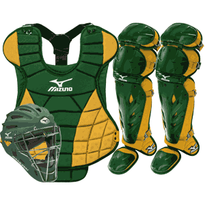 Mizuno Samurai Womens Fastpitch Catchers Gear Set - Green Gold