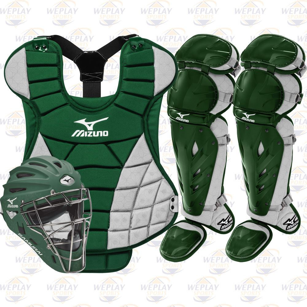 Mizuno Samurai Womens Fastpitch Catchers Gear Set - Green 5a27fd5b53