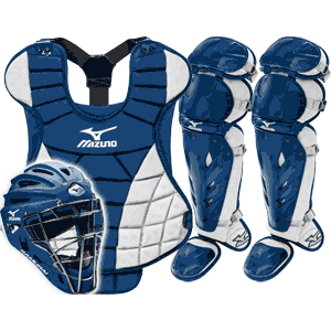Mizuno Samurai Womens Fastpitch Catchers Gear Set - Navy Blue