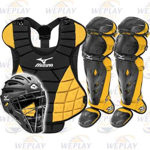 Mizuno Samurai Fastpitch Catchers Gear Set - Black /Gold Intermediate