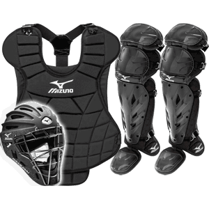 Mizuno Samurai Girls Fastpitch Catchers Gear Set - Black dca82ed73c