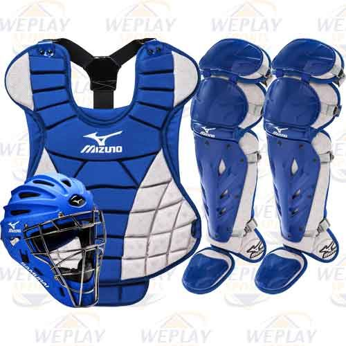 Mizuno Samurai Girls Intermediate Fastpitch Catchers Gear Set - Royal Blue