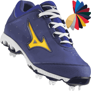 Mizuno 9-Spike Swift 3 Switch Womens Softball Cleats - Royal Blue
