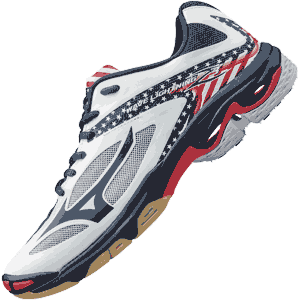Mizuno Lightning Z3 Volleyball Shoes - Stars Stripes