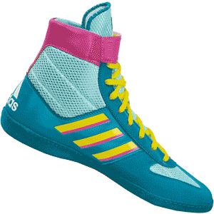 adidas Combat Speed 5 Wrestling Shoes - Aqua Teal