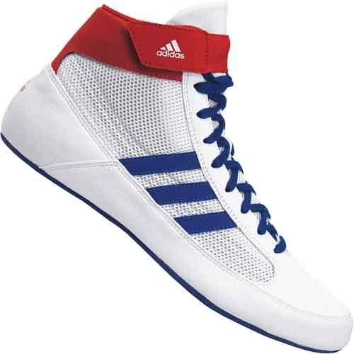 adidas HVC 2 Youth Wrestling Shoes - Red White Blue