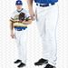 Rawlings PRO150P Plated Open Bottom Piped Baseball Pants - White / Royal Blue