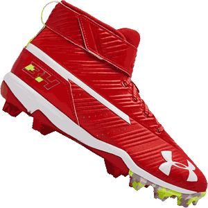 Under Armour Harper 3 Boys Baseball Cleats - Red