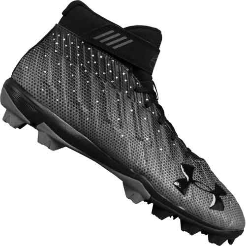 Under Armour Harper 2 RM Youth Baseball Cleats - Black