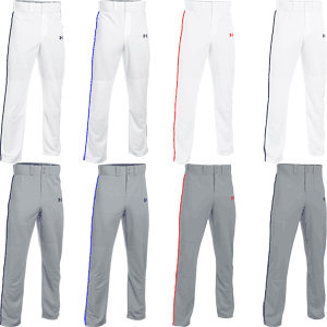 Under Armour Clean Up Piped Open Bottom Baseball Pants