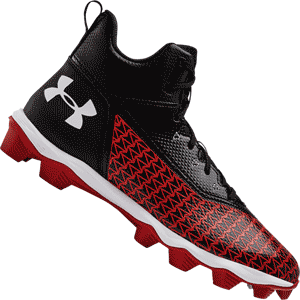 Under Armour Hammer Mid RM Football Cleats - Red Black