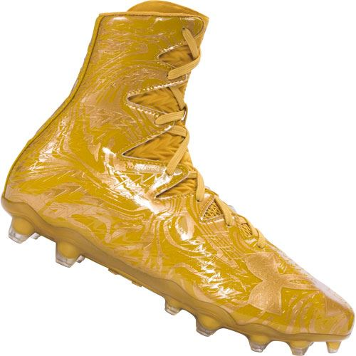 Under Armour Highlight Lux Football Cleats - Gold Rush