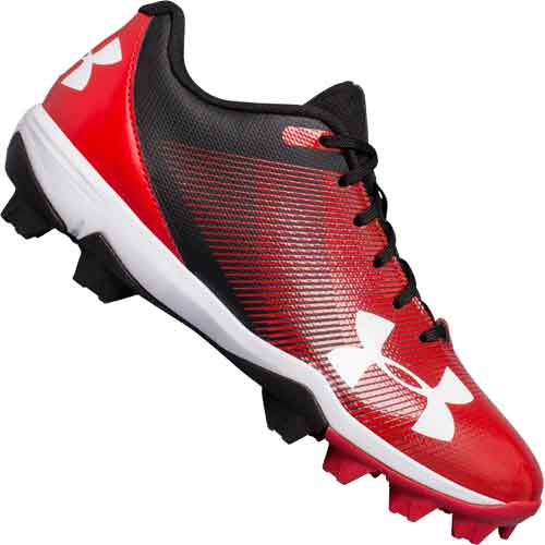 Under Armour Leadoff Low RM Jr Youth Baseball Cleats - Red
