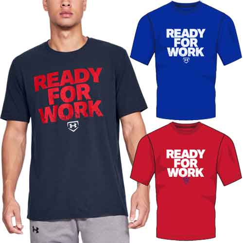 Under Armour Ready For Work Baseball T-Shirt