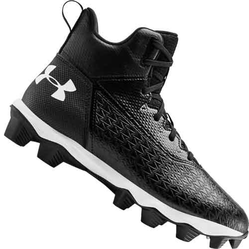 Under Armour Hammer Mid RM Jr. Youth Football Cleats - WIDE