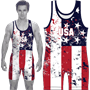 USA Americana Heavyweight Wrestling Singlet